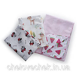 Набор пеленок Twins (3 шт) pink