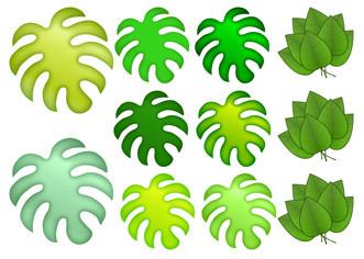 """Вафельна картинка """"Тропічні листя"""""""