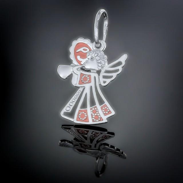 Кулон Angel 019 Рожевий Rh