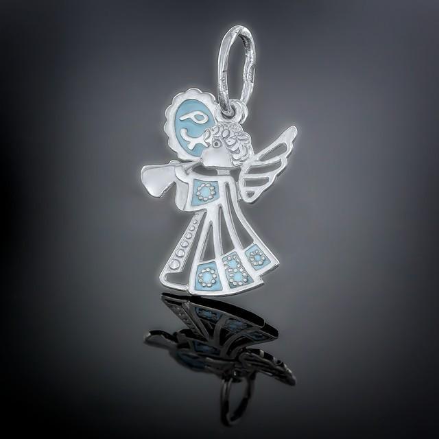 Кулон Angel 019 Блакитний Rh