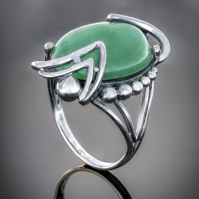 Колечко 022 Авантюрин Зеленый