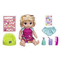 Интерактивная кукла Пупс Танцующая малышка Блондинка BABY ALIVE Делает ПИ-ПИ говорит по русски E0609, фото 2