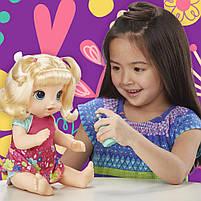 Интерактивная кукла Пупс Танцующая малышка Блондинка BABY ALIVE Делает ПИ-ПИ говорит по русски E0609, фото 3