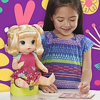 Интерактивная кукла Пупс Танцующая малышка Блондинка BABY ALIVE Делает ПИ-ПИ говорит по русски E0609, фото 7