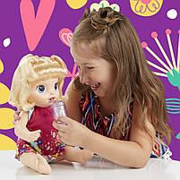 Интерактивная кукла Пупс Танцующая малышка Блондинка BABY ALIVE Делает ПИ-ПИ говорит по русски E0609, фото 6