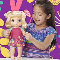 Интерактивная кукла Пупс Танцующая малышка Блондинка BABY ALIVE Делает ПИ-ПИ говорит по русски E0609, фото 4