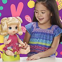 Интерактивная кукла Пупс Танцующая малышка Блондинка BABY ALIVE Делает ПИ-ПИ говорит по русски E0609, фото 5