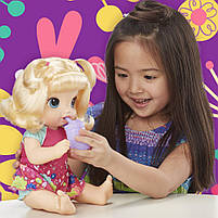 Интерактивная кукла Пупс Танцующая малышка Блондинка BABY ALIVE Делает ПИ-ПИ говорит по русски E0609, фото 8