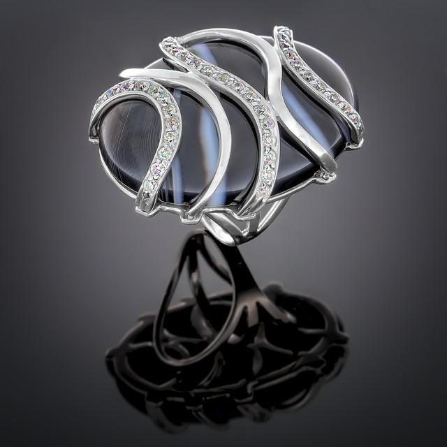 Перстень 030 Агат Rh