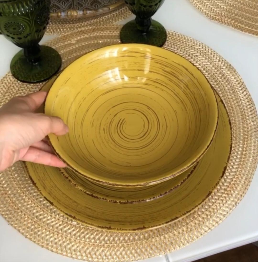Тарелка суповая глубокая Глянец 400мл