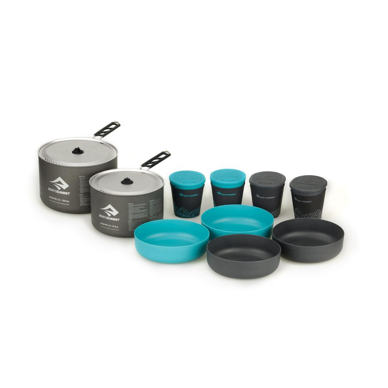 Набір посуду Sea To Summit Alpha Cookset 4.2 Pacific Blue/Grey