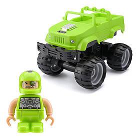 Автомобиль CRASH CAR S2 на р/у - КИБОРГ (зеленый, аккум. 3.7V)