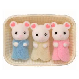 Игровой набор Sylvanian Families Белые мышата-тройняшки (5337)