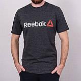 Чоловіча спортивна футболка Reebok, білого кольору, фото 4