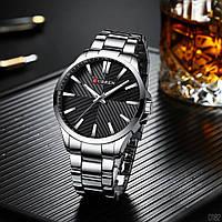 Чоловічі наручні годинники Curren 8322 Silver-Black (+Відеоогляд), фото 1