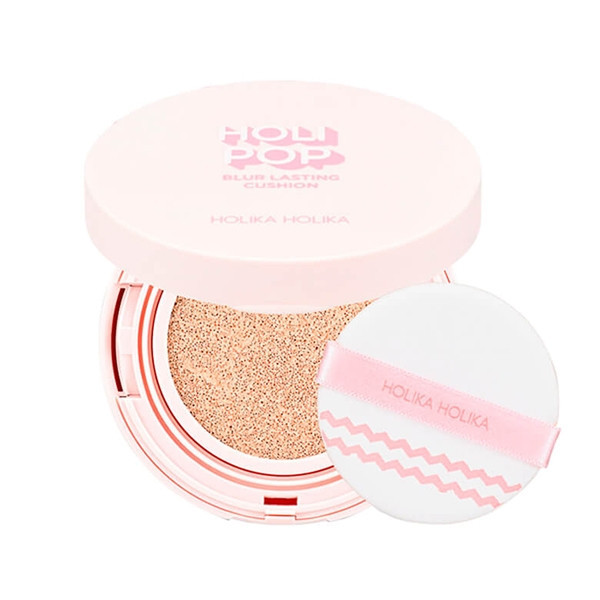 Кушон для лица Holika Holika Holi Pop Blur Lasting Cushion 02 Pink Blur SPF50+ PA+++ 13 мл (8806334376710)
