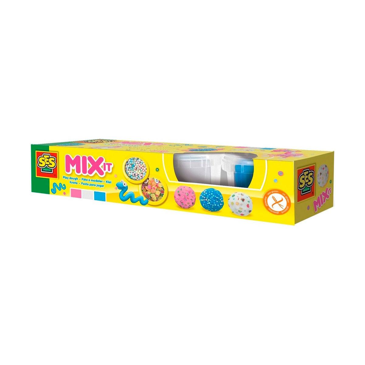 Незасыхающая масса для лепки - МИКС (3 цвета, аксес., в пластиковых баночках)