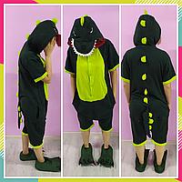 Детская пижама Кигуруми, кигуруми летняя для детей Крокодил хлопок