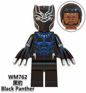 Чёрная пантера Т'Чалла Супергерой Марвел Мстители Аналог лего