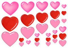"""Вафельна картинка """"Серця"""""""