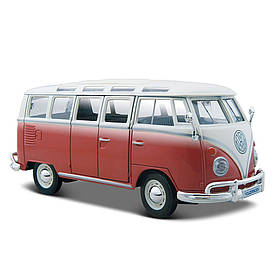 Авто VW bus Samba (1 24) (31956 red cream)