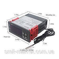 Цифровий терморегулятор (термостат) з датчиком температуры, 220 вольт, фото 2