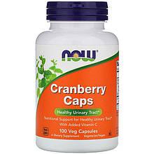 """Клюква NOW Foods """"Cranberry Caps"""" для здоровья мочевыводящих путей, 1400 мг (100 капсул)"""