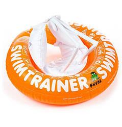 Надувной круг для детей 2-6 лет или 15-30 кг SWIMTRAINER classic, Оранжевый