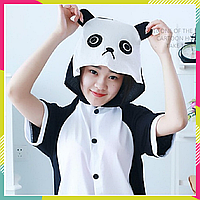 Детская пижама Кигуруми, кигуруми летняя для детей Панда хлопок