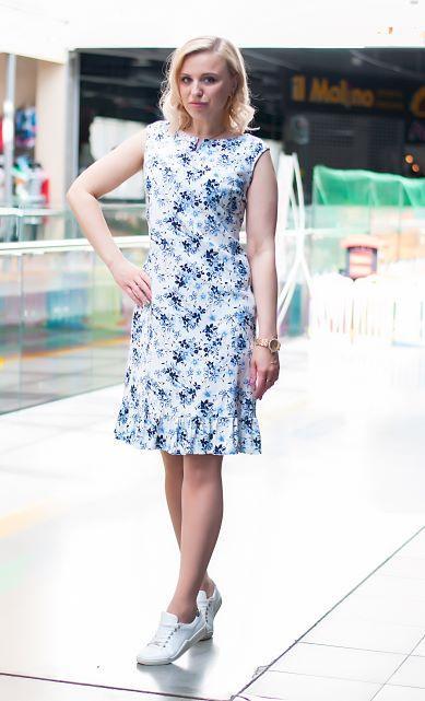 Платье-сарафан льняное