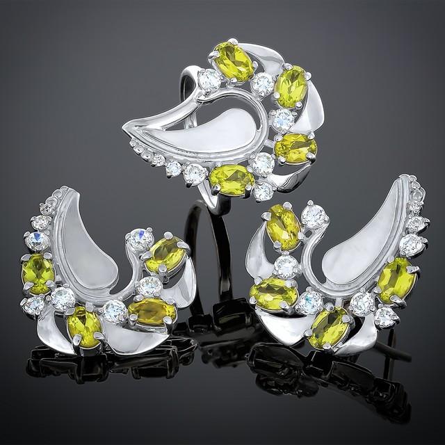 Женский комплект украшений 170 Хризолит