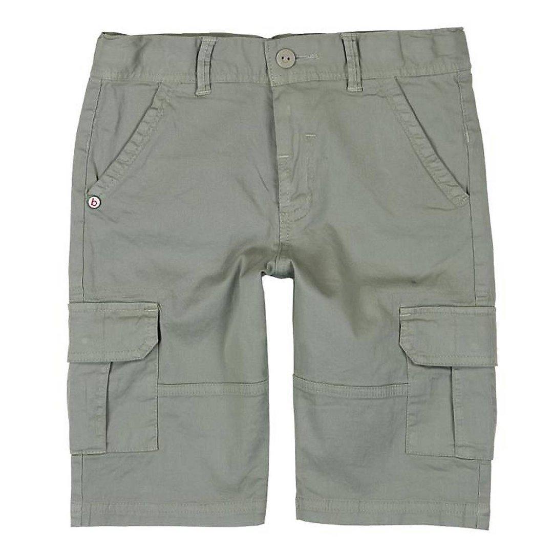 Шорты коттоновые для мальчика с накладными карманами
