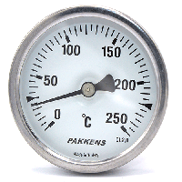 Термометр PAKKENS Ø60мм / Tmax 250°С / капилляр 1 метр. Турция