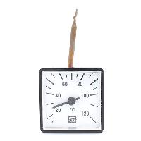 Термометр универсальный квадратный (45*45мм) 120°С с капилляром 1 метр (Венгрия)