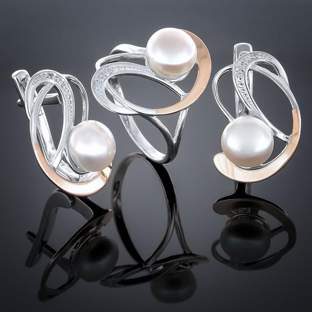 Женский комплект украшений 209 Белый Rhodium