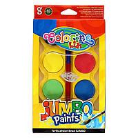 Краски акварельные Colorino Jumbo 8 цветов и кисточка (32612PTR)