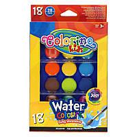Краски акварельные большие таблетки Colorino 18 цветов (54737PTR)
