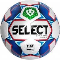 Мяч футбольный SELECT Brillant Super FIFA PFL (012) бел/синий  р.5