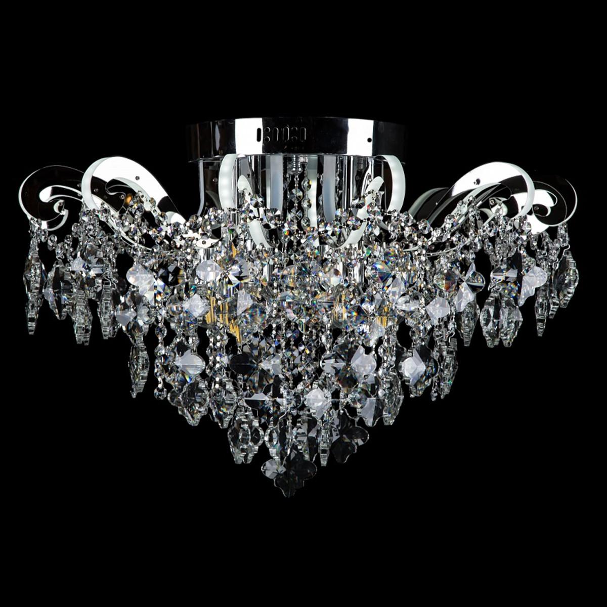 Хрустальная люстра СветМира на 6 лампочек со встроенной LED подсветкой рожков VL-2878/6+12 LED