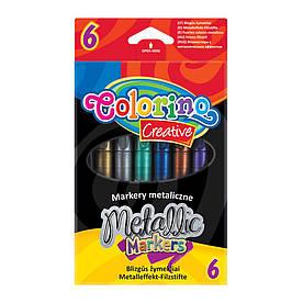 Маркеры Colorino 6 цветов металлизированные (32582PTR)