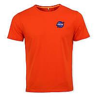 Футболка мужская оранжевая NASA с патчем Ф-10 ORN L(Р) 20-814-020
