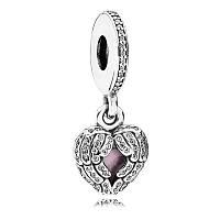 Шарм-подвеска «Крылья ангела» из серебра Pandora, 791737CZ