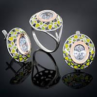Женский комплект украшений 390 Белый Rhodium