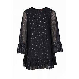 Платье для девочки из фатина с длинным рукавом