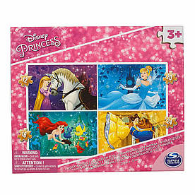 Пазл 4 в 1 Disney Дисней Princess деревянный (SM98490/6040050)