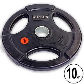 Набір обрезиненних олімпійських млинців 100 кг Z-HIT Zelart, фото 2