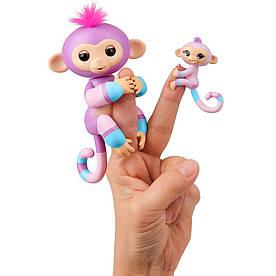 Интерактивная игрушка Fingerlings Обезьянка Вайолет с малышом 12 см (W3540/3543)