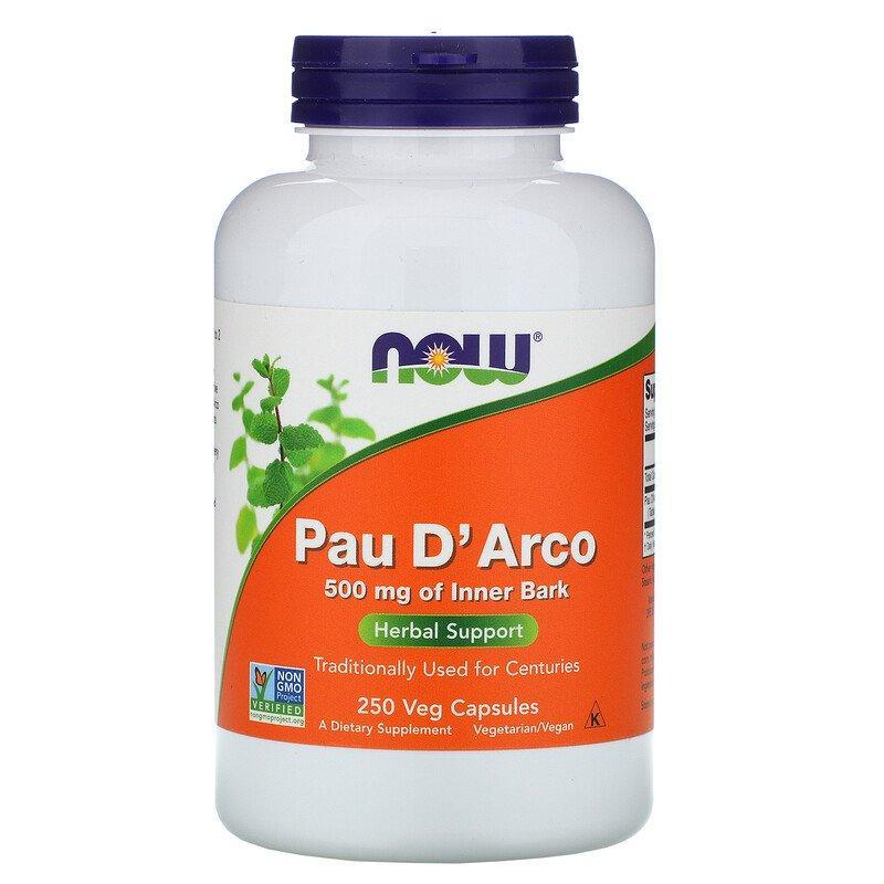 "Кора муравьиного дерева NOW Foods ""Pau D'Arco"" 500 мг (250 капсул)"