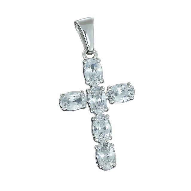 Крест 031 White Rhodium
