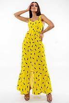 Женственный длинный желтый сарафан с корсетным верхом (Джемма ri), фото 3